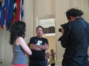 Entrevistando a Juan Fernando Velasco, 10 de Agosto. OEA- Washington, DC