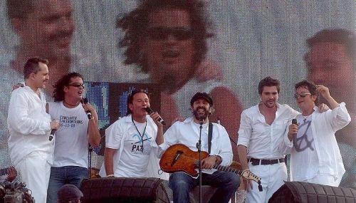Miguel Bose, Carlos Vives, Ricardo Montaner, Juan Luis Guerra, Juanes, Alejandro Sanz